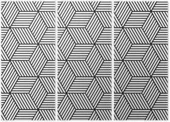 Triptyque Seamless géométrique avec des cubes.