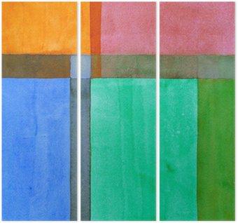 Triptyque Une peinture abstraite minimaliste
