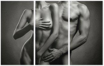 Trittico Nude coppia sensuale