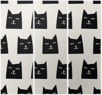 Trittico Pattern di gatto senza soluzione di continuità