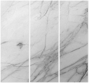 Trittico Sfondo bianco struttura della parete di marmo