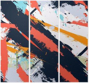 Tryptyk Abstract Art grunge awaryjną bez szwu wzór