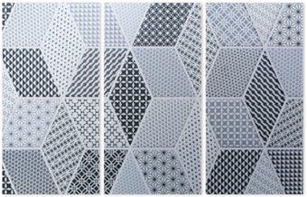 Tryptyk Abstrakcyjna mozaika na ściany i podłogi