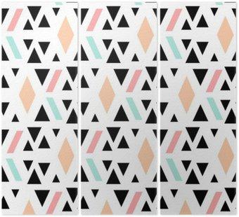 Tryptyk Abstrakcyjne geometryczne powtarzalne wzór