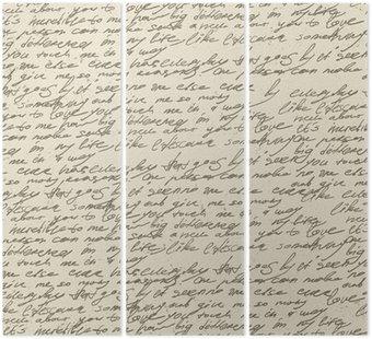 Tryptyk Abstrakcyjne pisma na starym zabytkowe papierze. wzór powtarzalne, vec