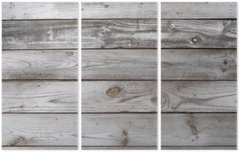 Tryptyk Aged Wood Background Texture pozioma