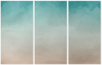 Tryptyk Akwarela abstrakcyjna tekstury