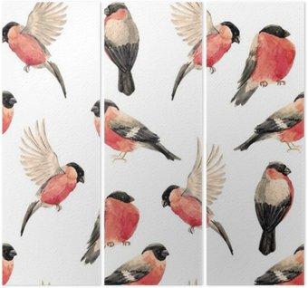Tryptyk Akwarela gil ptak wzór
