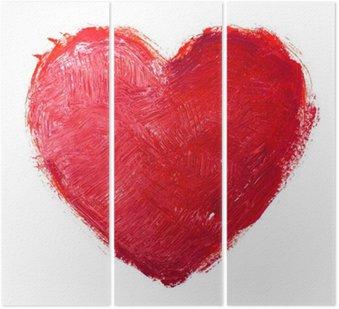Tryptyk Akwarela serca. Koncepcja - miłość, związek, sztuki, malarstwo