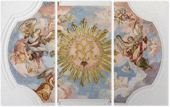 Tryptyk Anioły fresk