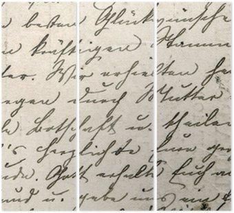 Tryptyk Archiwalne pisma z tekstem w nieokreślonym języku