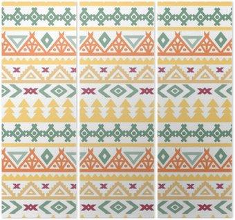 Tryptyk Art Tribal boho etniczne szwu wzór