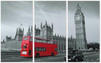 Tryptyk Autobus w Londynie