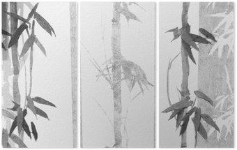 Tryptyk Bambusa tekstury