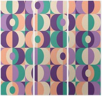 Tryptyk Bez szwu rocznika wzór geometryczny