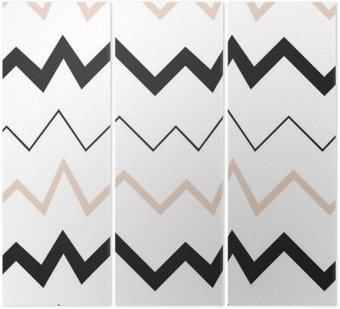 Tryptyk Bezproblemowa geometryczny wzór. Minimalistyczny nowoczesny styl. Abstrakt góry. Zygzak. Jest czarno biały i nagie kolory.