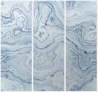 Tryptyk Bezszwowych tekstur niebieskiego marmuru na wzór tła / ilustracji