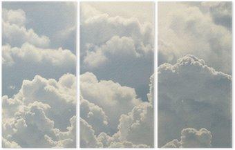 Tryptyk Błękitne niebo i piękne chmury