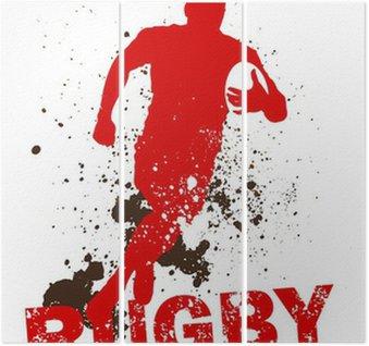 Tryptyk Brudne gracz rugby