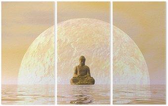 Tryptyk Budda medytacji - 3D render