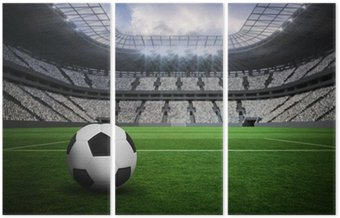 Tryptyk Composite obraz czarno-biały skóry futbolu