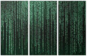 Tryptyk Digital abstrakcyjny