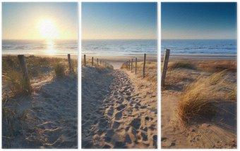 Tryptyk Droga do morza, piaszczystej plaży w północnej