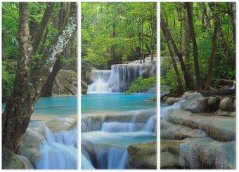 Tryptyk Erawan wodospad, Kanchanaburi, Tajlandia