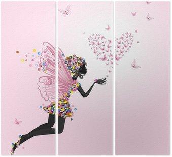 Tryptyk Fairy z valentine motyli