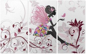 Tryptyk Flower Fairy z motyli