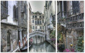 Gondola, pałace i Most, Wenecja, Włochy