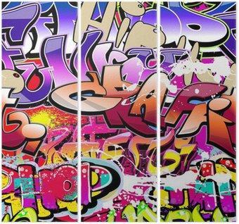 Tryptyk Graffiti bezszwowe tło. hip-hop miejskiego sztuki