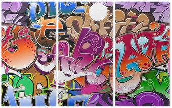 Tryptyk Graffiti bezszwowe tło
