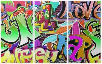 Tryptyk Graffiti ściany. tła miejskiego sztuki wektor. powtarzalne wzór