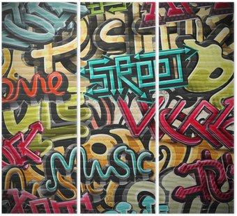 Tryptyk Graffiti w tle