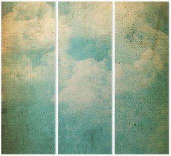 Tryptyk Grunge chmury w tle