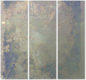 Tryptyk Grunge kolorowe tło. Z różnych wzorów kolor: żółty (beżowe); brązowy; niebieski; szary