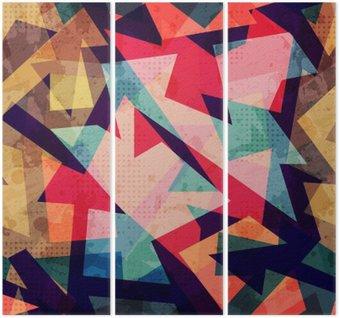 Tryptyk Grunge szwu wzór geometryczny