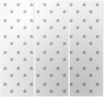 Tryptyk Gwiazdy ikona wzór tła ilustracji wektorowych projektowania