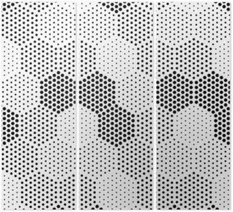 Tryptyk Hexagon Illusion Wzór