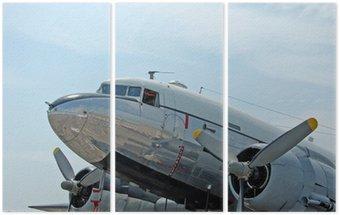 Tryptyk Historyczny samolot DC-3