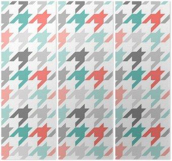 Tryptyk Houndstooth bez szwu deseń, kolorowe