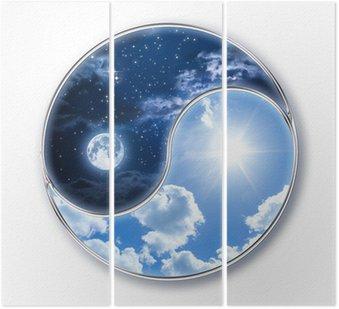 Tryptyk Icon tao - Księżyc i Słońce