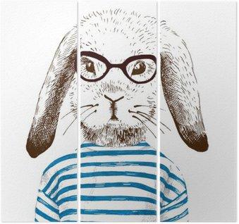 Ilustracja przebrany królika