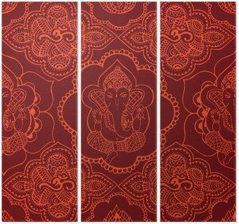 Tryptyk Indyjski szwu z ornamentem