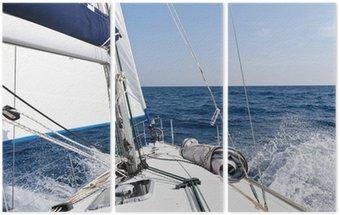 Tryptyk Jacht żaglowy Prędkość w morzu