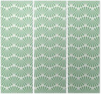 Tryptyk Jednolite Art Deco wzór tekstury tapety tło
