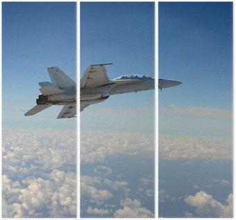 Tryptyk Jetfighter w locie