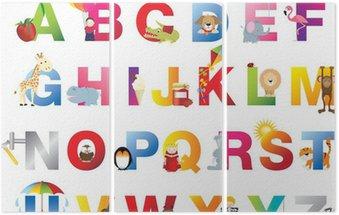 Tryptyk Kompletne Alfabet dla dzieci