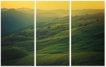 Tryptyk Krajobraz północnej Kalifornii